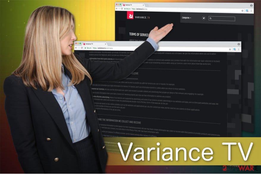 how to remove variance tv virus adware program